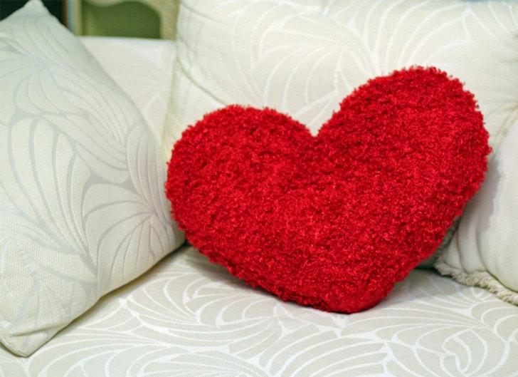 kalp yastıklı yürek