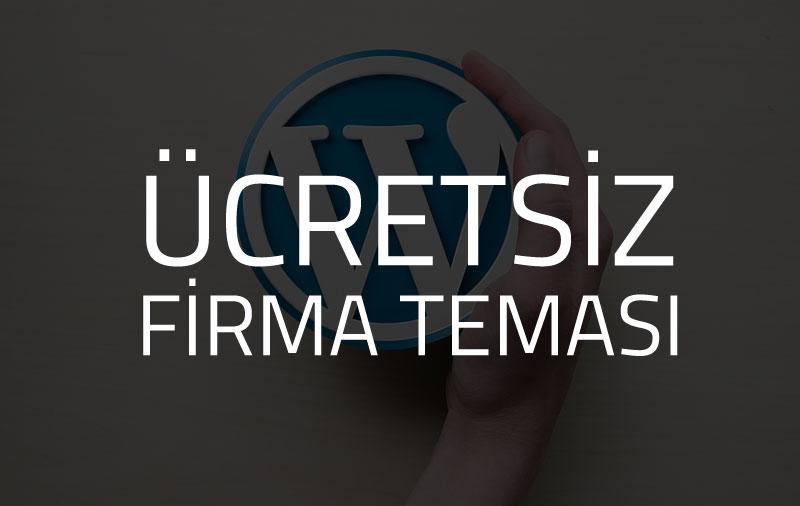 ücretsiz firma temasi wordpress