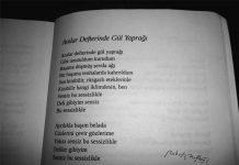 anılar defterinde gül yaprağı şiiri
