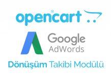 opencart adwords dönüşüm kodu modülü