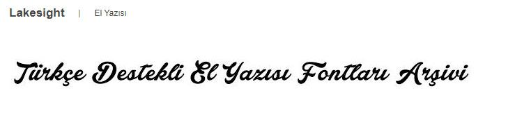 türkçe destekli el yazısı fontları